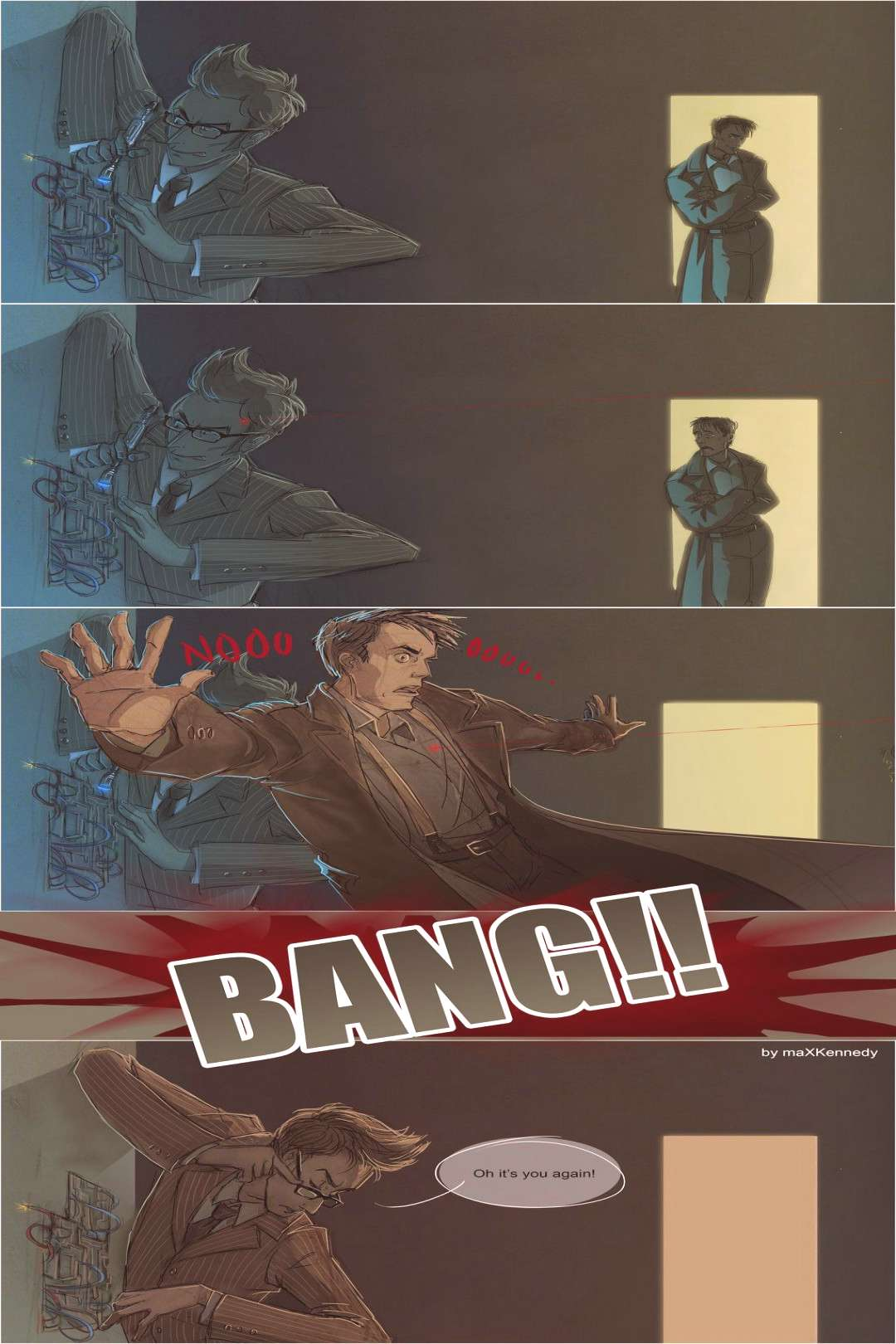 Doctor Who - Bang! by ~maXKennedy on deviantART <--- I love this! It's their relationship in a nuts