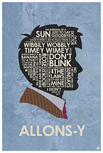 Doctor Who, David Tennant, Allons-y Giclee Art Print Poster
