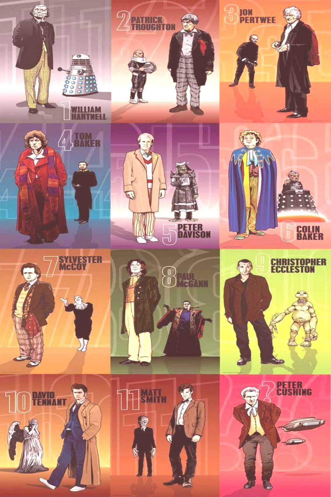 Doctor Who - The 12 Doctors Alternatives - 6 x 4 Set of Prints via EtsyYou can find Doctor who and