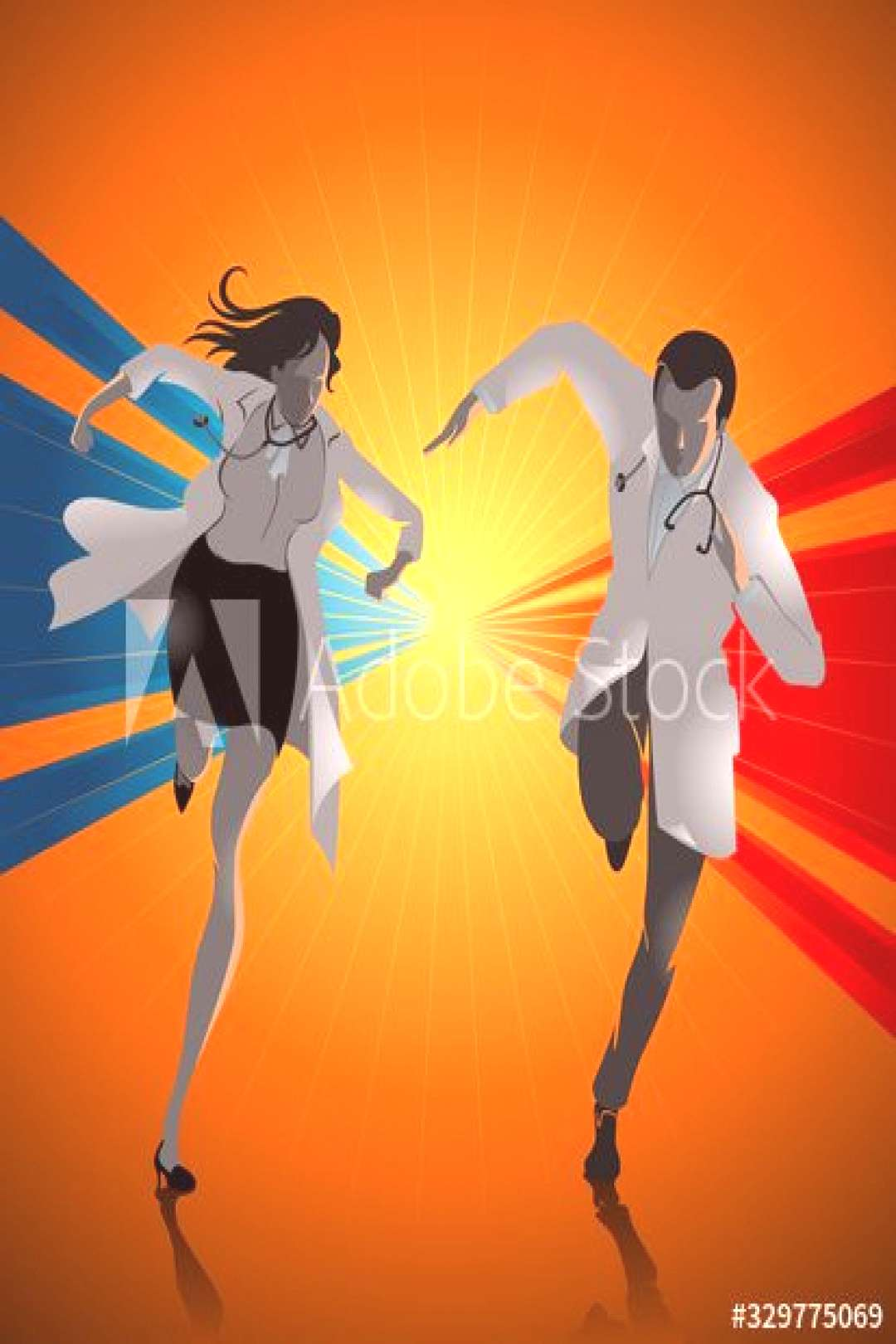 Doctors Running to Answer Emergency Case ,
