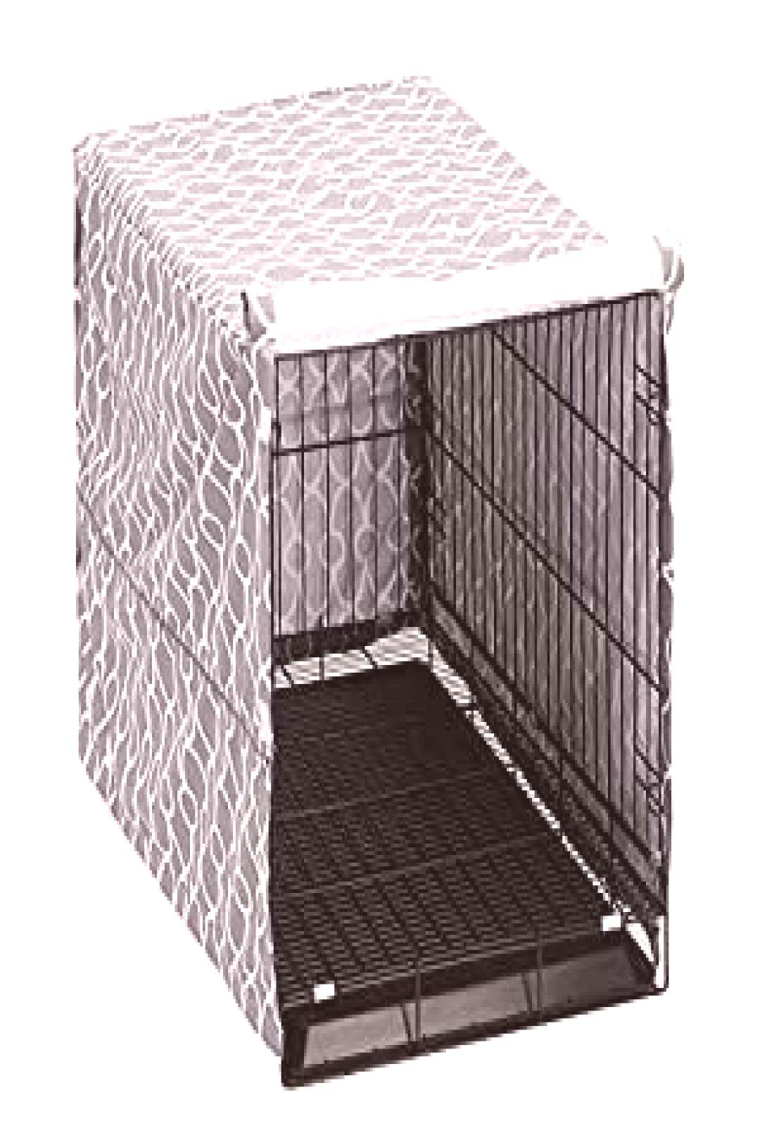 Dog Crate Cover for Wire Crates, Fits Most 24quot inch Dog Crates. Easy to Put On, Take Off, and... aw