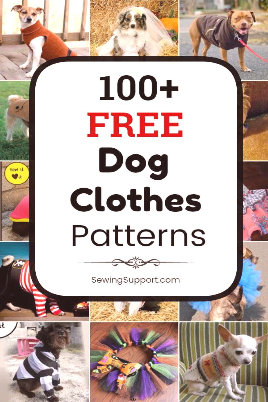 Dog DIY: 100+ free dog clothes patterns, tutorials, and diy sewing projects. Sew dog t-shirts, dres