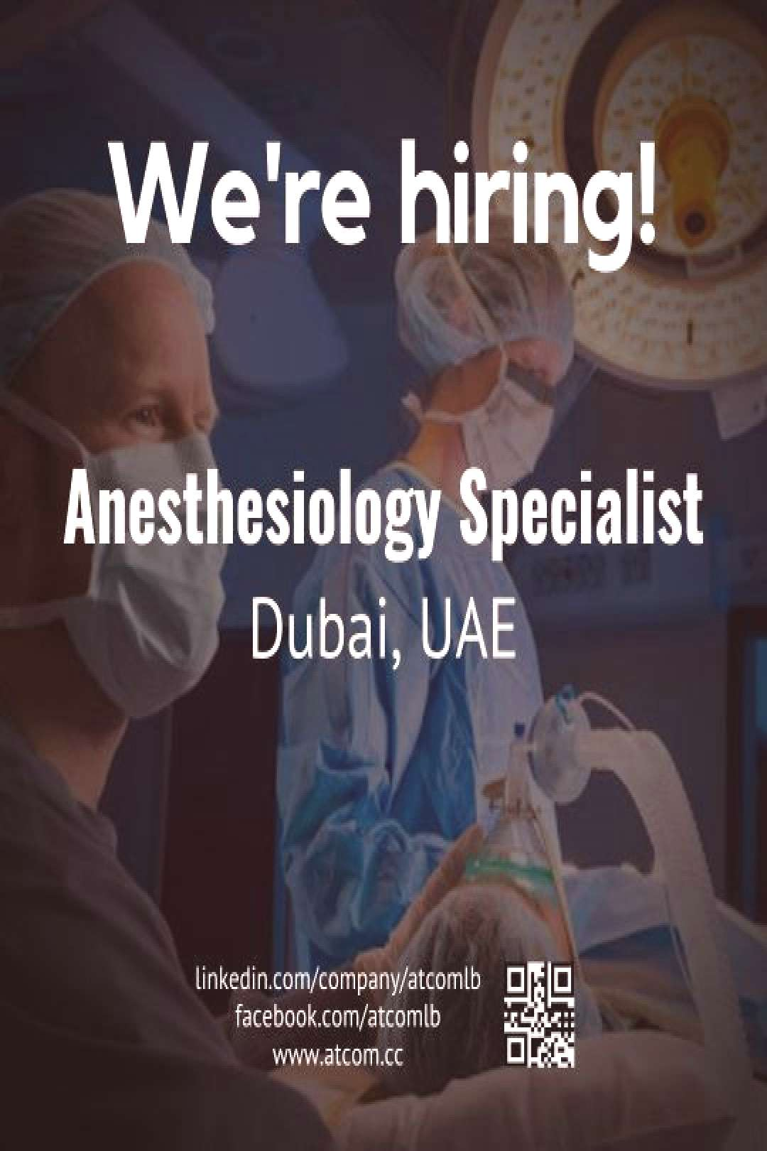 Dubai Jobs | Anesthesiology Specialist (DHA Licensed or Eligibility Letter)  Check out our advert l