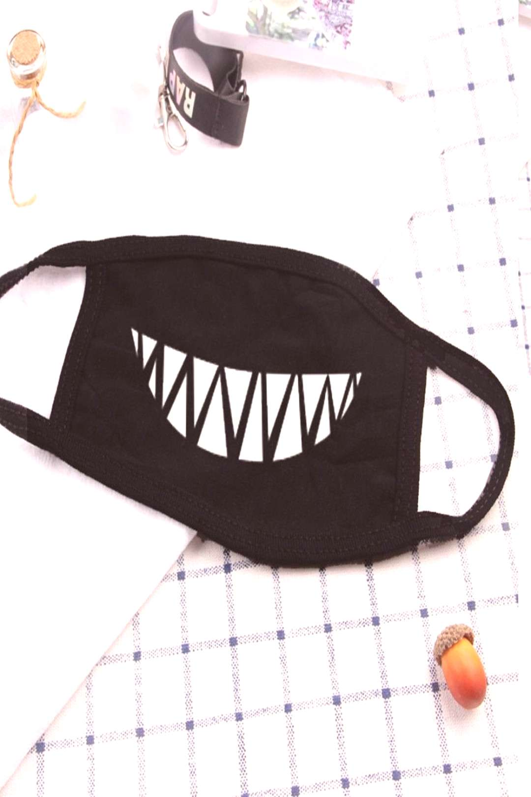 Dustproof Mouth Mask Korean Pop Anime Mask Cotton Face Mouth Mask Cartoon Face Reusable Fabric Anti