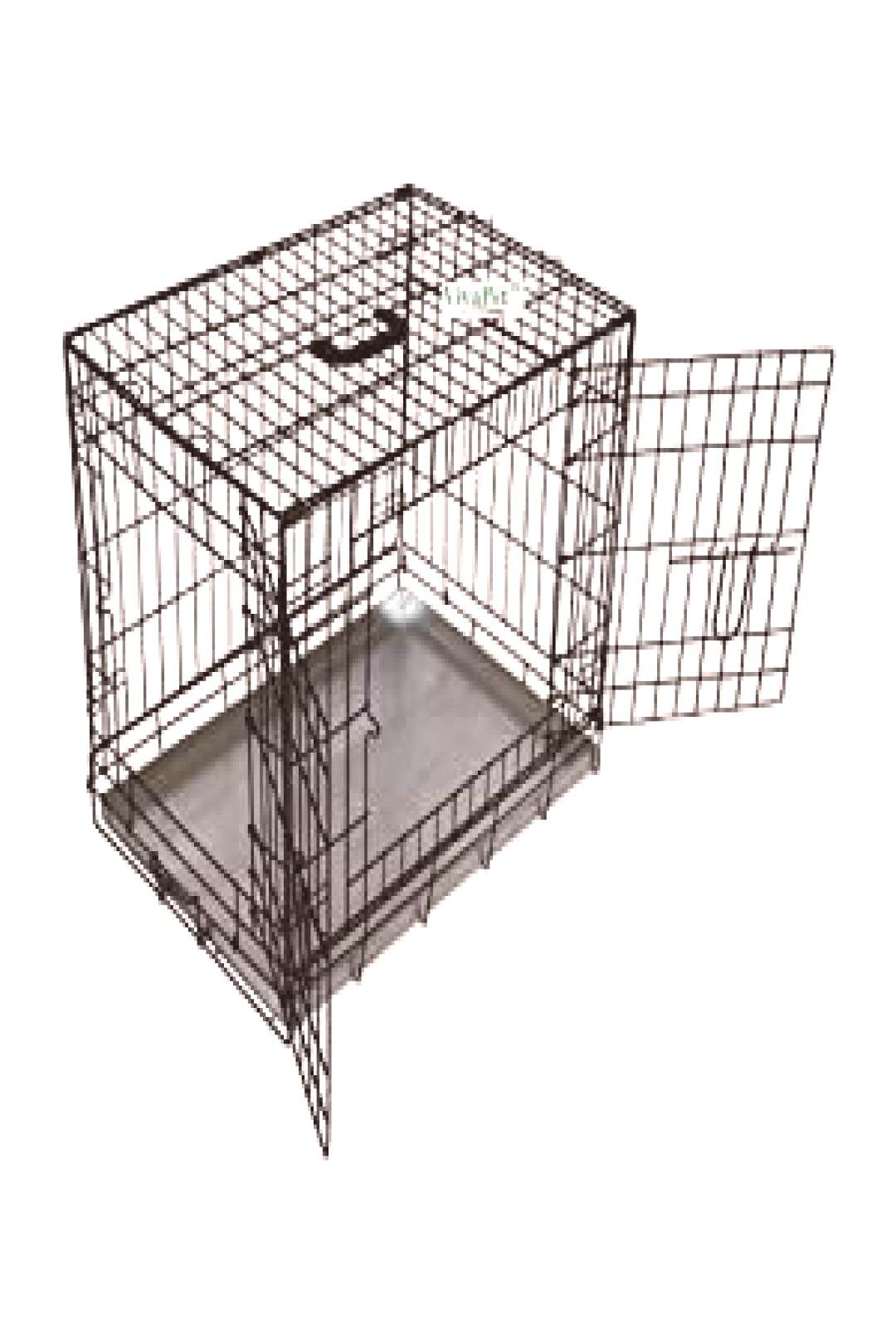 Foldable Dog Crate Cage, 36-Inch, Black