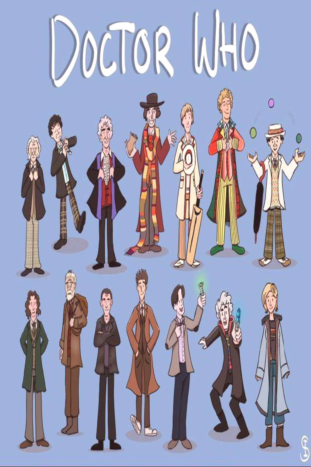 Game of thrones all the doctors, the doctor dbd, clara oswald and the doctor, the doctor logo, the