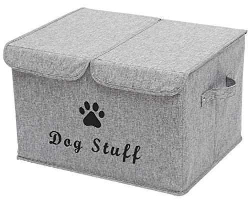 Geyecete Large Storage Boxes - Large Linen Fabric Foldable