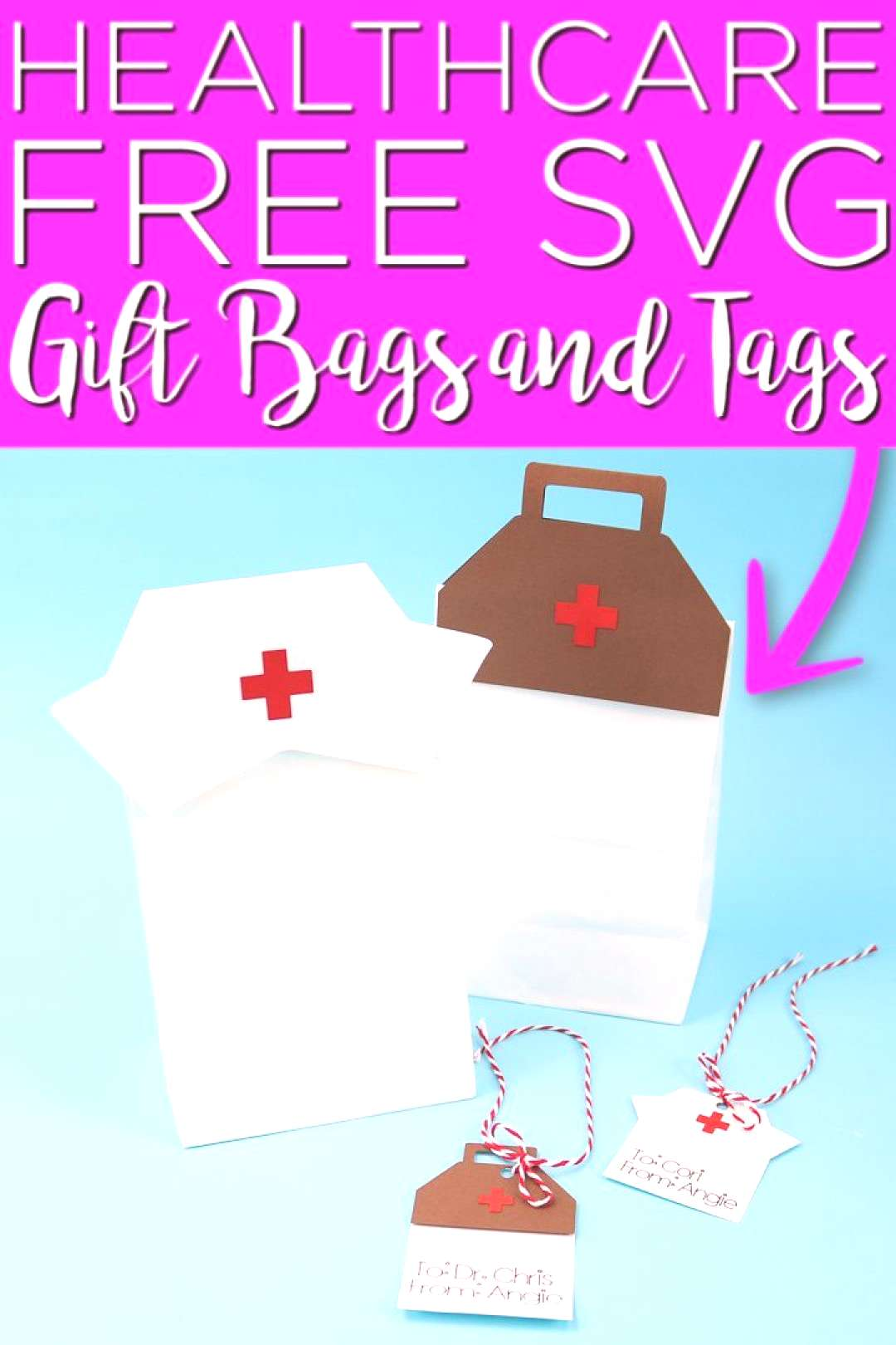 Gift bag toppers and tags for healthcare workers! Give thank you gifts for hospital staff with our