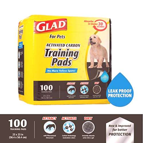 Glad for Pets Black Charcoal Puppy Pads | Puppy Potty