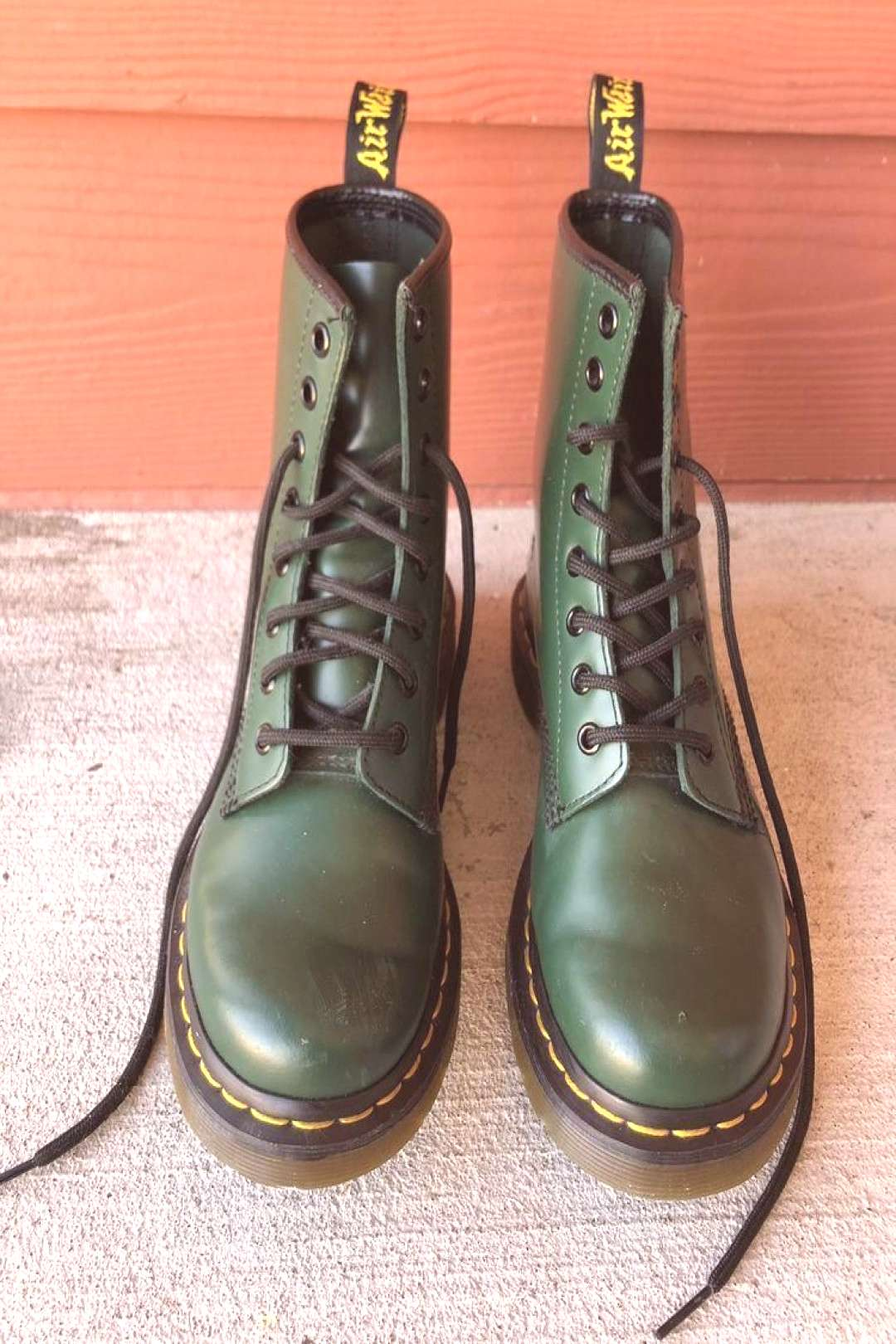 Green Doc Martens 1460s / Womens 7 / Mens 5 (ebay link)