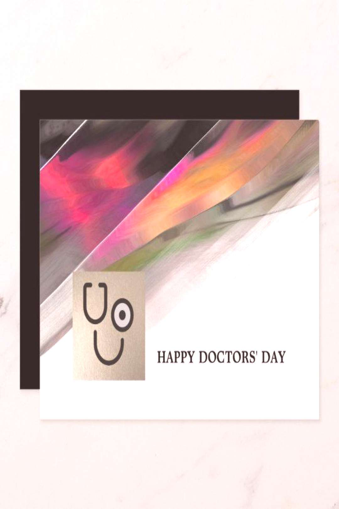 Happy Doctors' Day. Custom Flat Greeting Cards