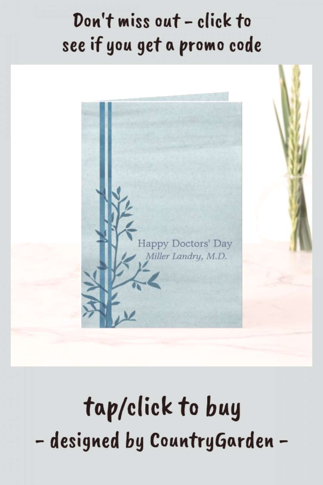 Happy Doctors Day Custom Name Card