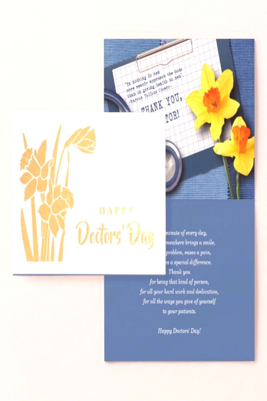 Happy Doctors Day. Real Foil Luxury Cards