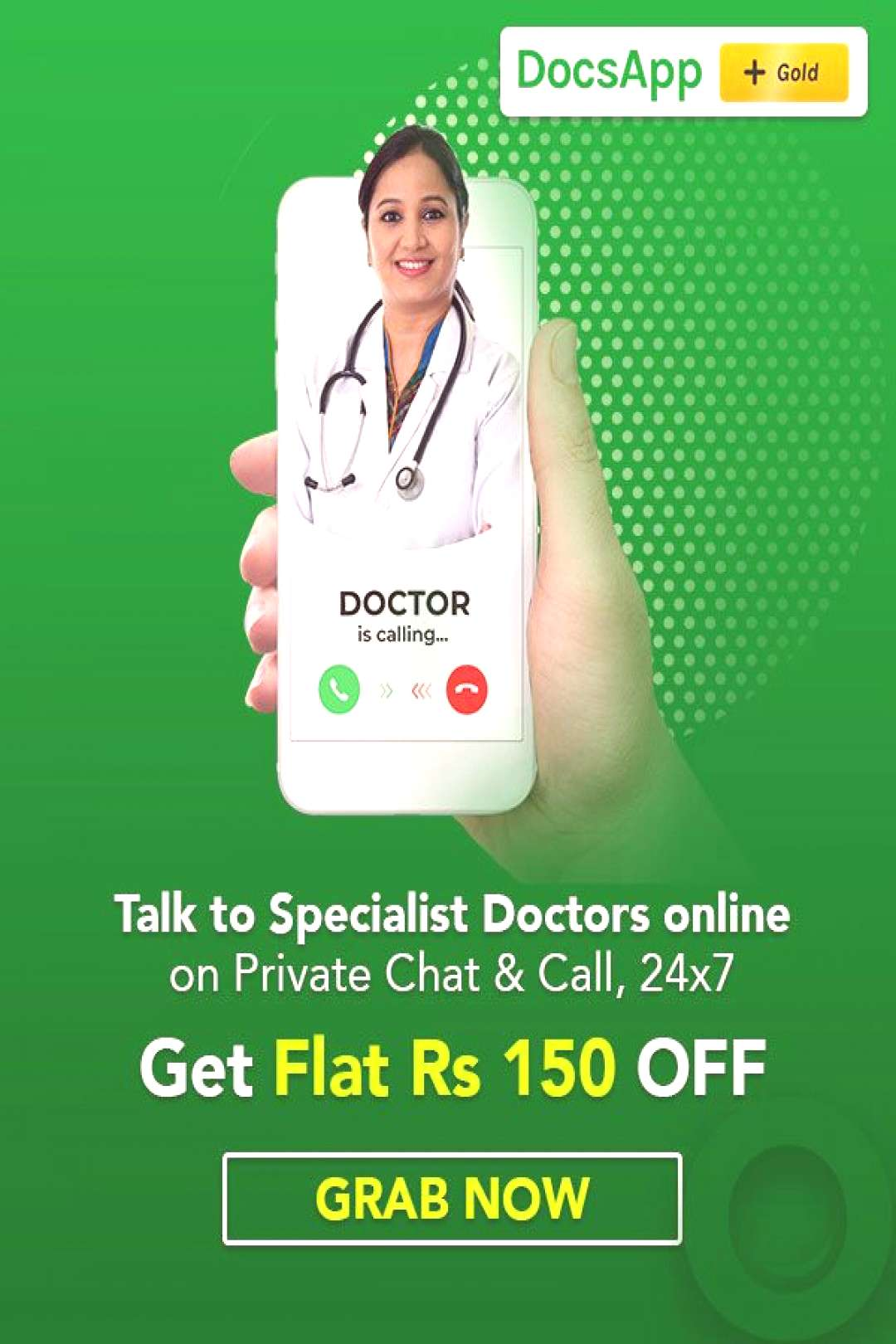 Health and Wellness: Talk to Specialist Doctors Online On Chat or Call via DocsApp! Fear going out