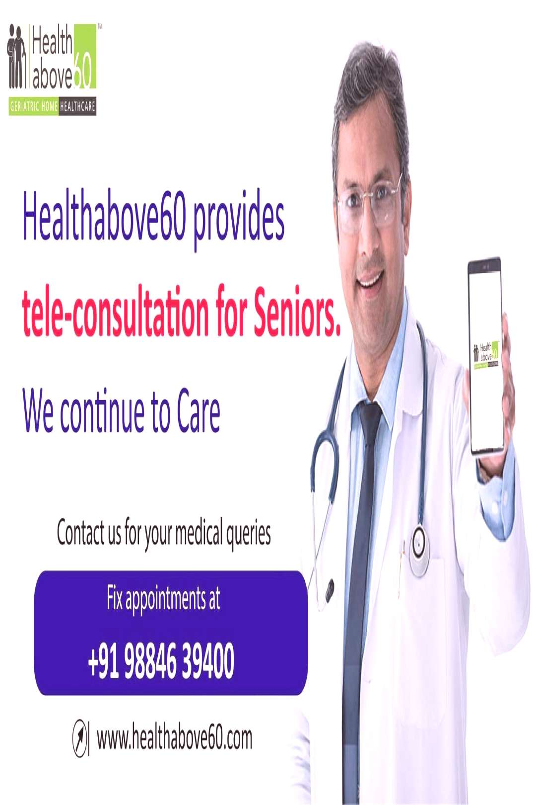 Healthabove60 We are extending our hands to provide to all of you out there. If you have any querie