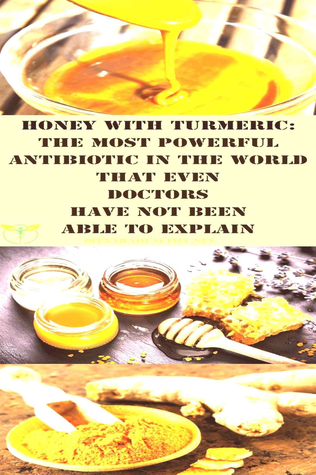 Honey with Turmeric: The Most Potent Antibiotic That not even Doctors Can Explai...,  Honey with Tu