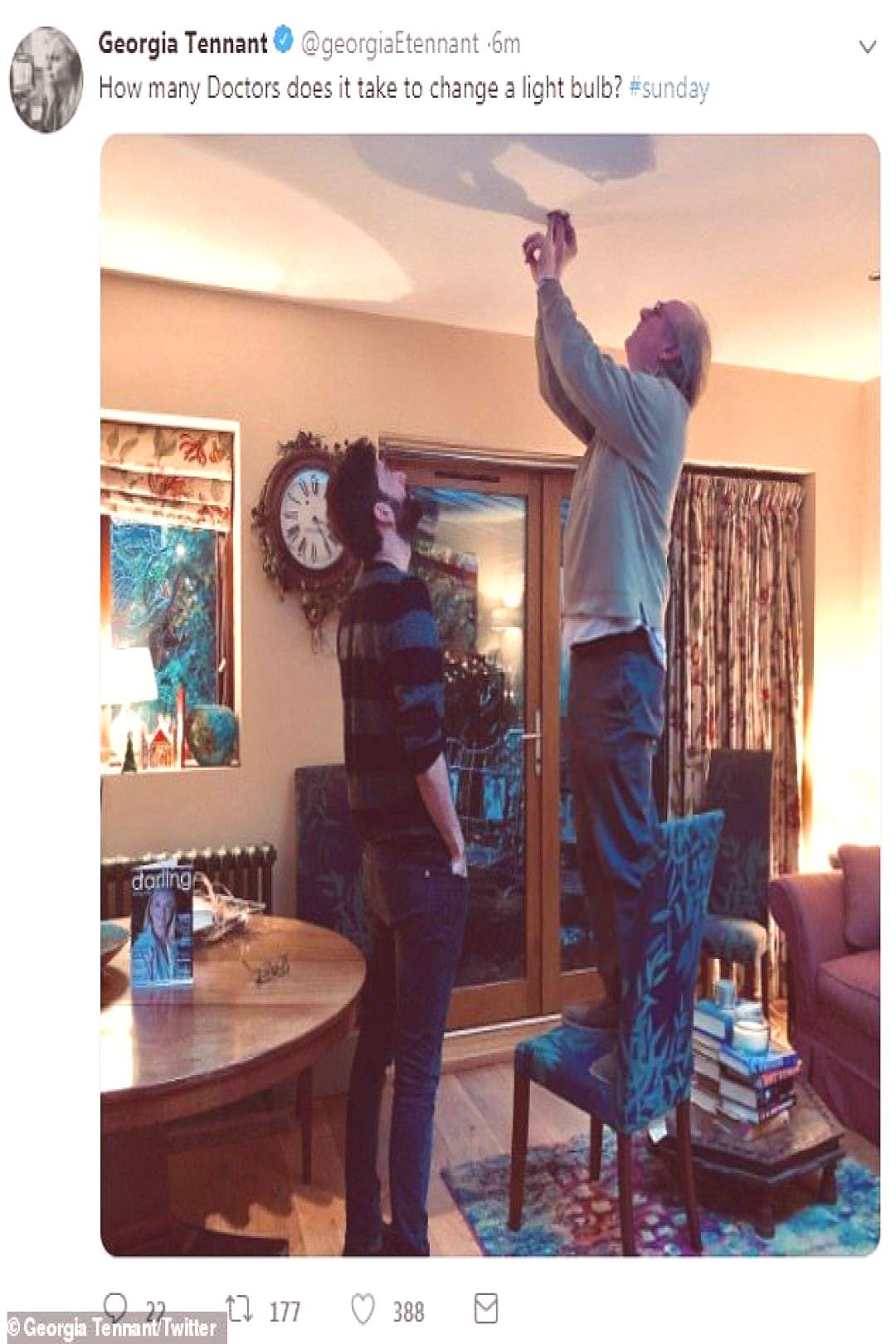 How many Doctors does it take to change a light bulb? David Tennants wife G... How many Doctors do