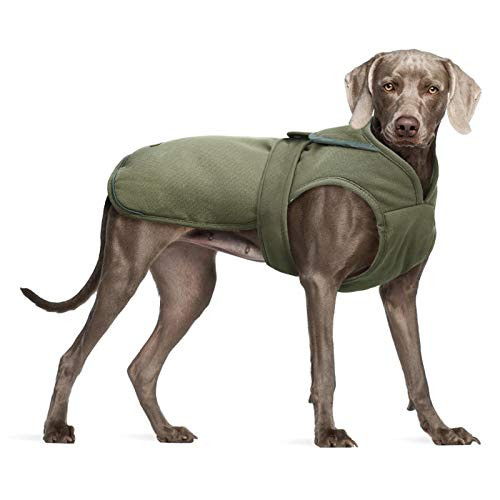 Kuoser Canvas Cold Weather Dog Coat for Winter, Reflective
