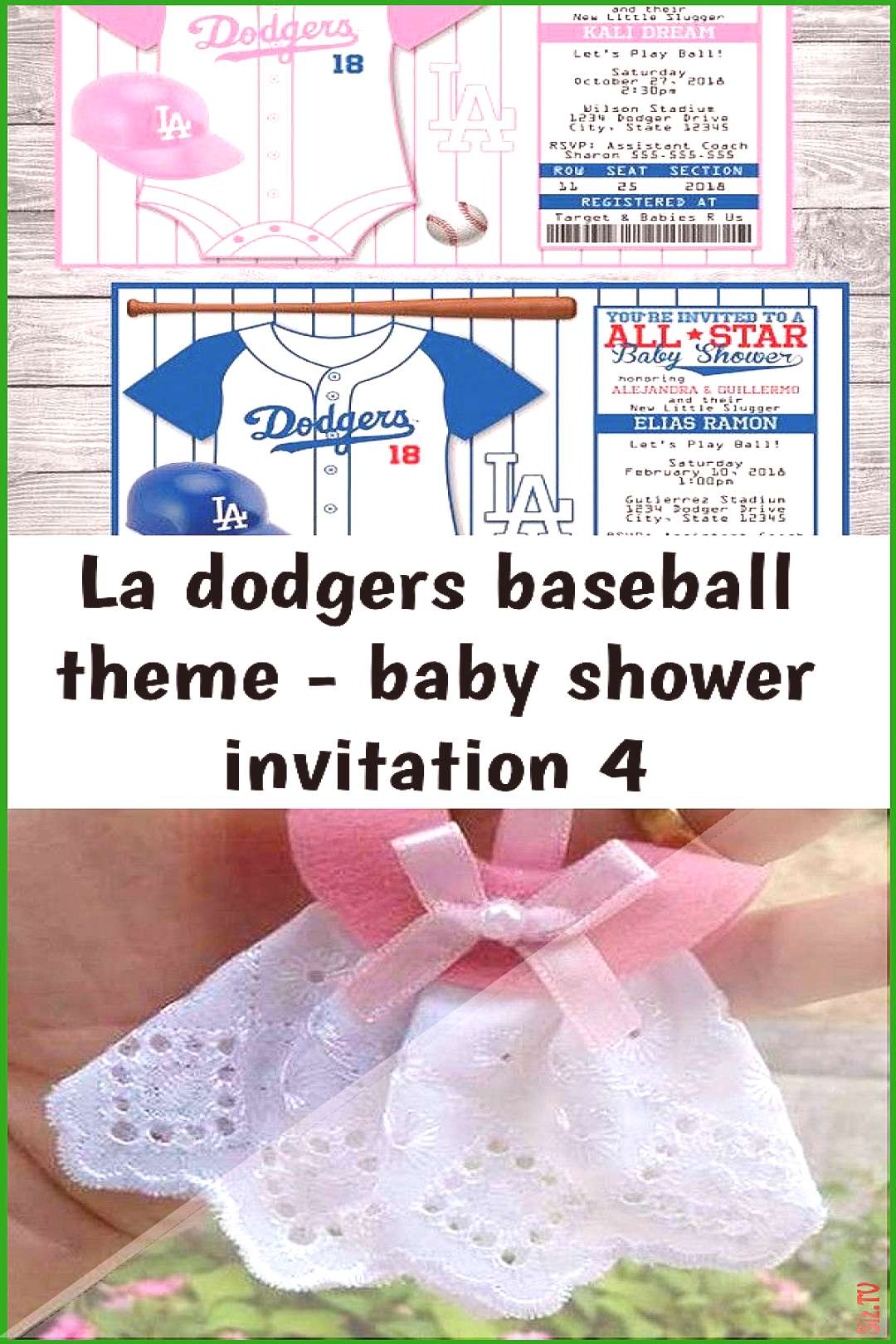 La dodgers baseball theme &; baby shower invitation 4 La dodgers baseball theme &; baby shower invi