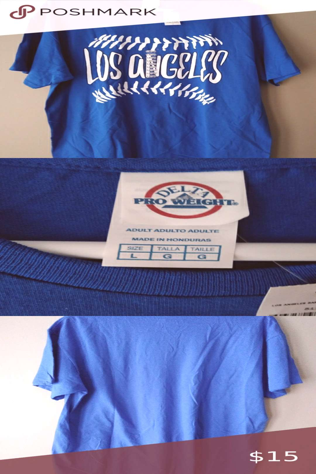 Los Angeles Dodgers Baseball T-shirt Men's Large Deadstock Los Angeles Dodgers Men's Large Baseball