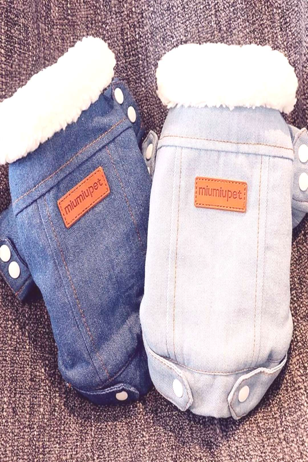 Luxury Winter Dog Jacket Puppy Dog Clothes Pet Outfits Dog Denim Coat Jeans Costume Chihuahua Poodl