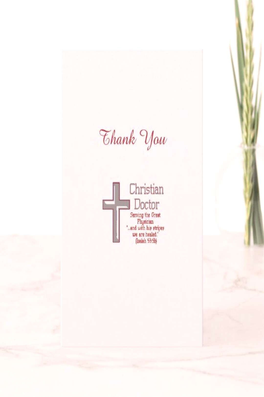 Medical Thank You Christian Doctor