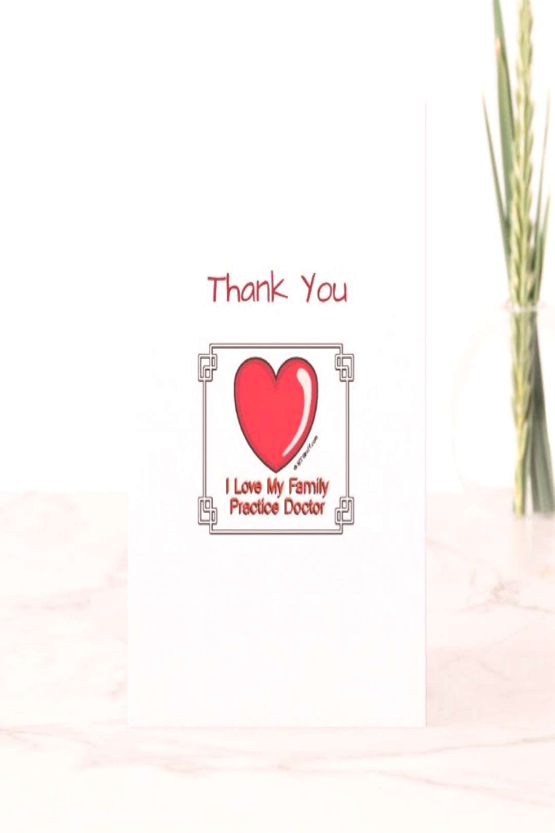 Medical Thank You Family Practice Doctor