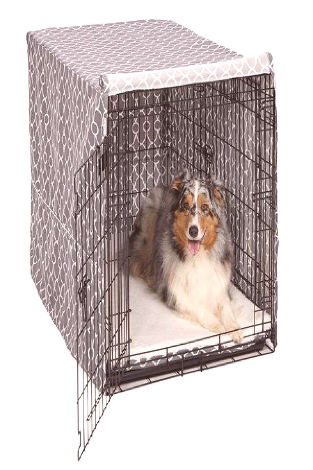 Midwest QuietTime Defender Covella Dog Crate Cover Gray 36 inch x 23 inch x 25 inch