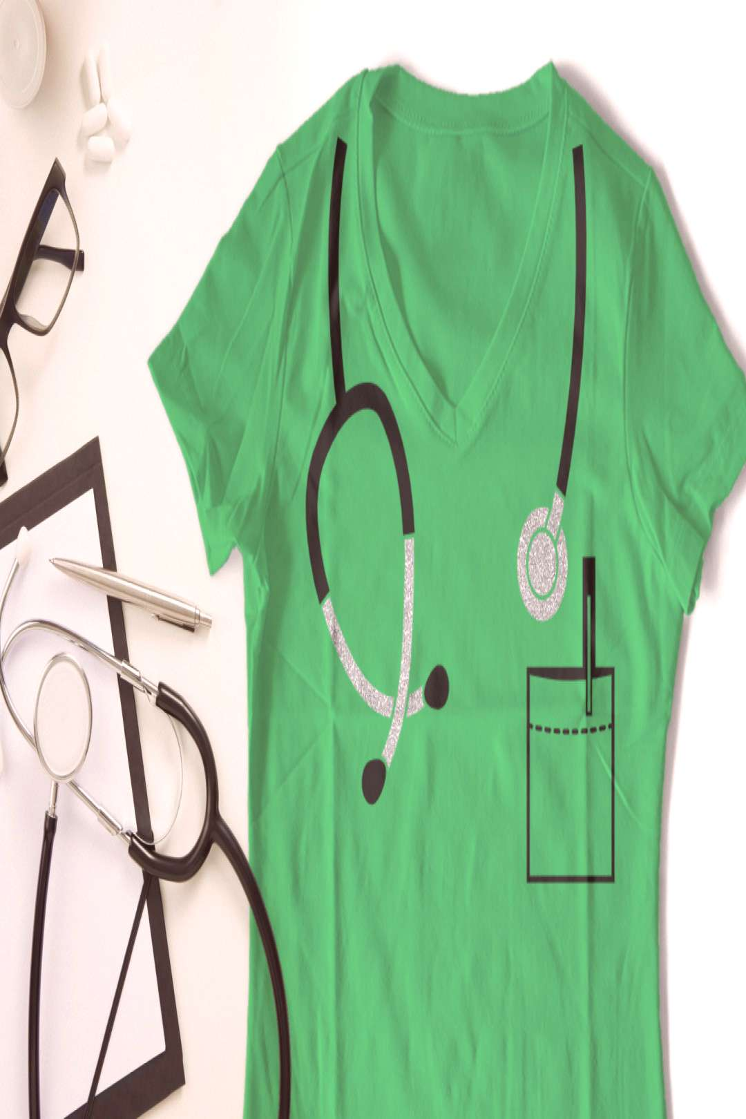 Mock Stethoscope SVG Design Doctors and nurses really know how to listen. Get this, and our other h