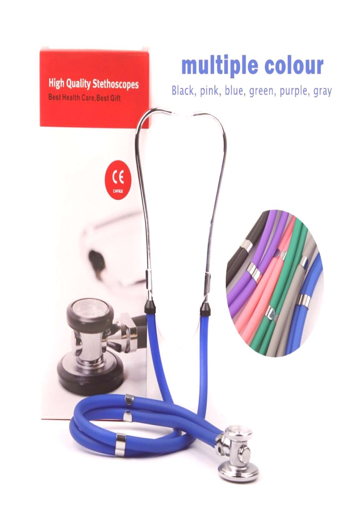 Multifunctional Double Tube Double Head Stethoscope Medical Estetoscopio Professional Heart Beat Fe