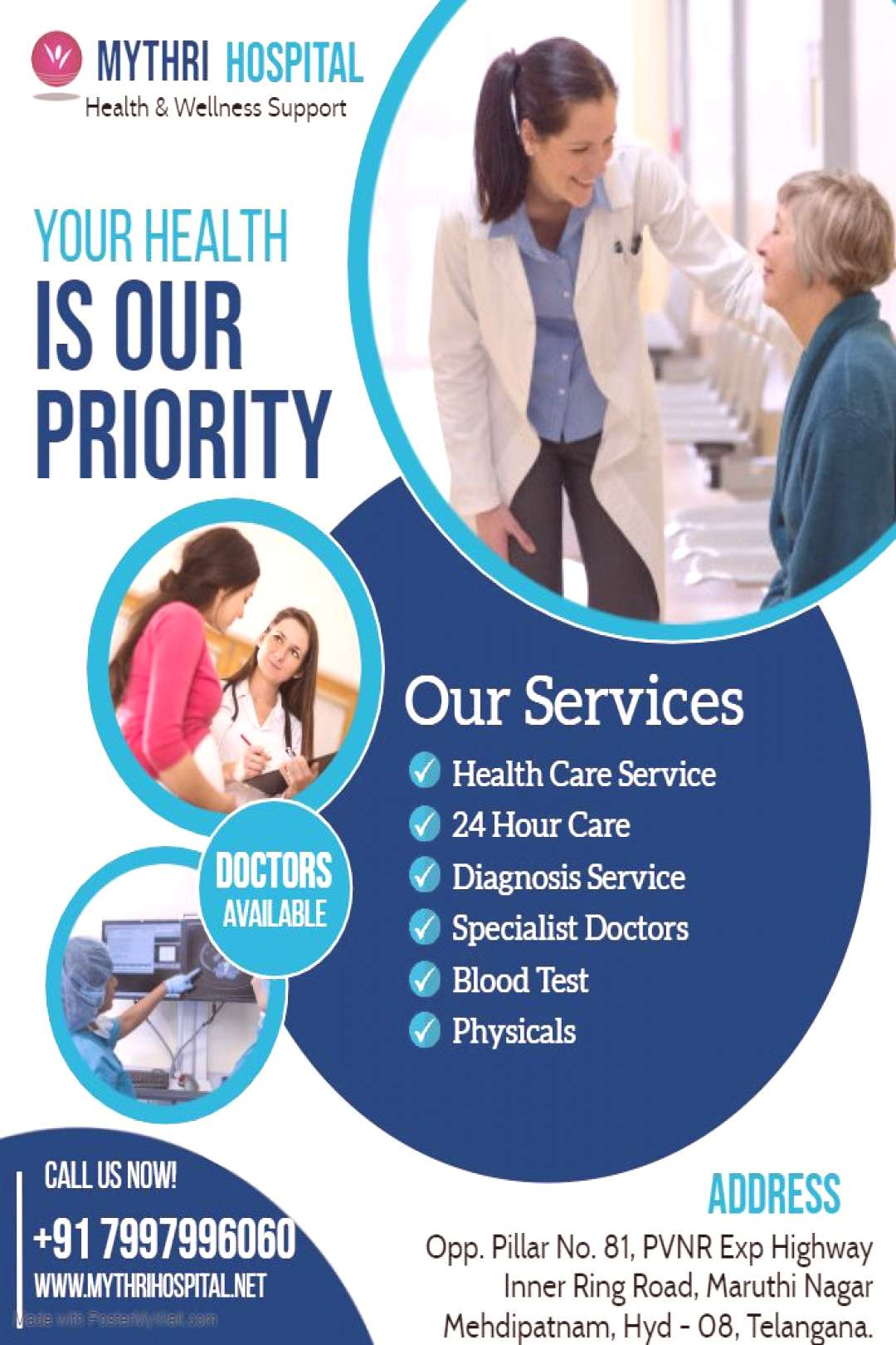 Mythri Hospital is a most multi specialty hospital top of to great and excellent for in way.