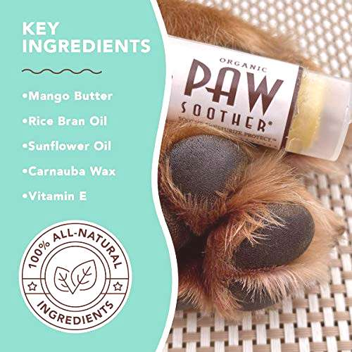 Natural Dog Company Paw Soother Trial Stick, Heals Dry,
