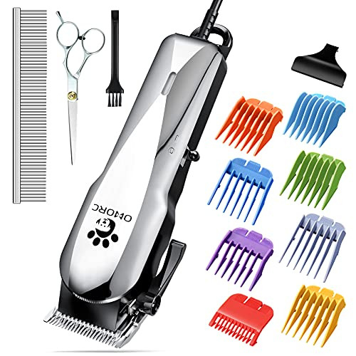 OMORC Dog Clippers with 24V Powerful Motor, Plug-in amp Quiet