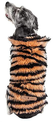 Pet Life Luxe Tigerbone Glamourous Tiger Patterned Mink
