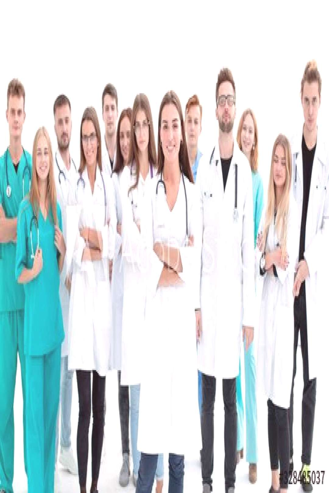 portrait of a happy group of young doctors ,
