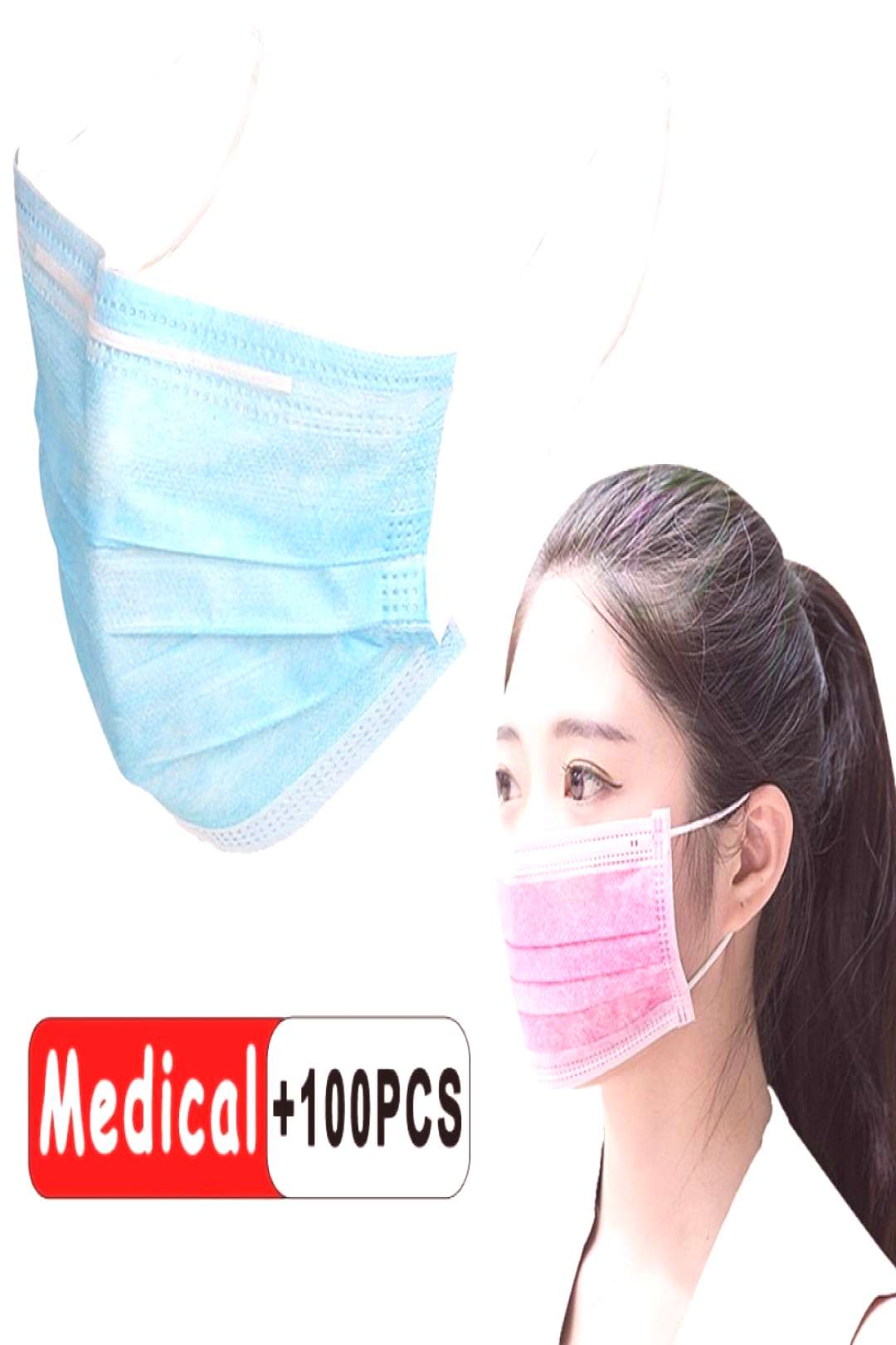Profession Medical Mask Medical Surgical 3-Ply PM2.5 N95 Nonwoven Disposable Earloop Masks(Pre-orde