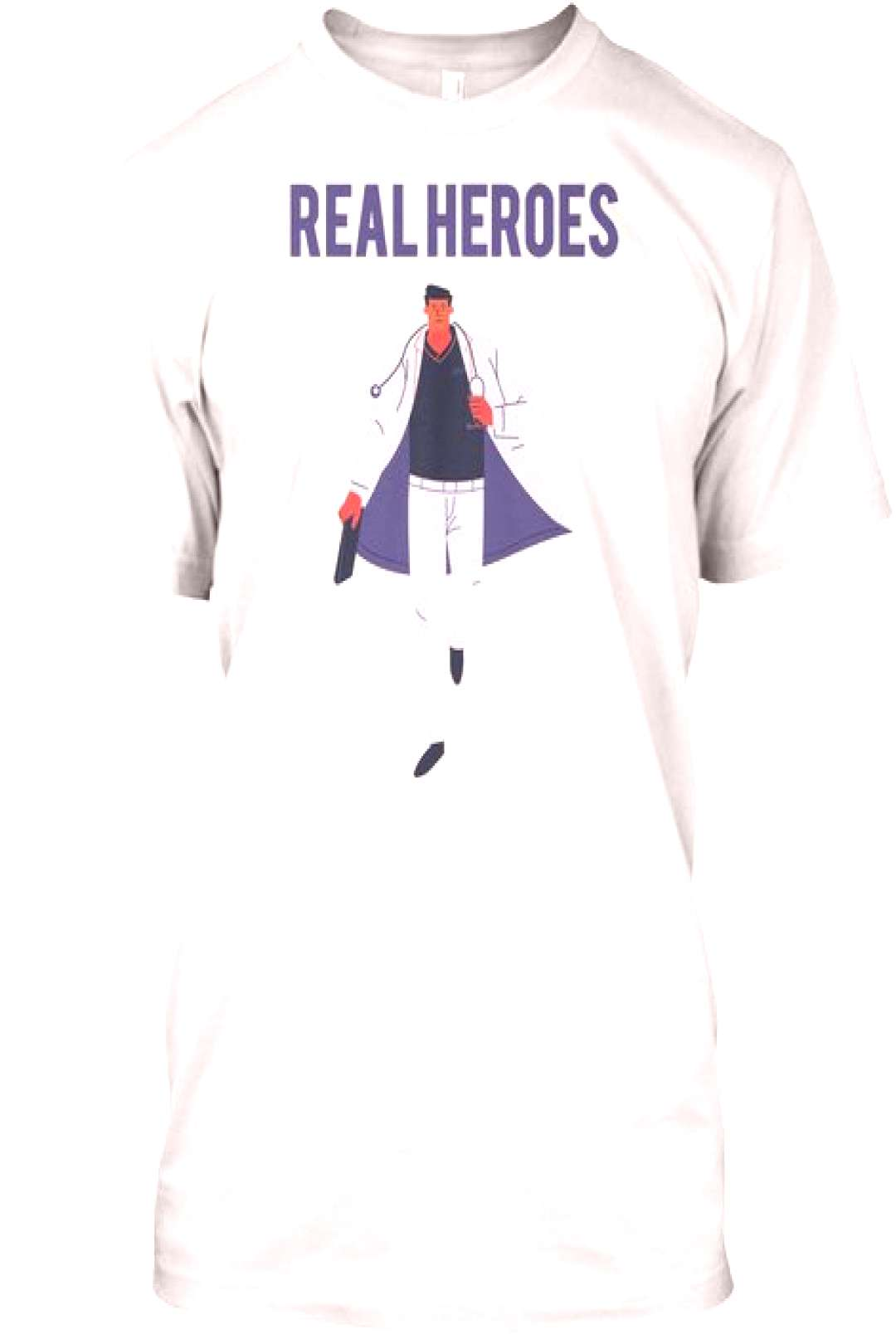 Real Heroes Medical workers are real heroes! Buying this shirt we will donate 50% of sales to Ameri