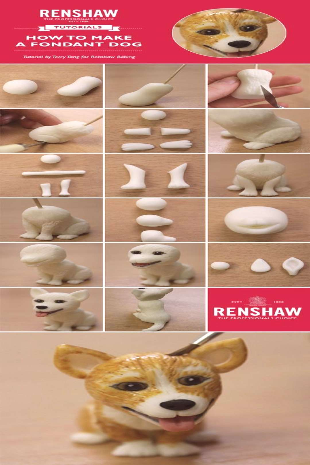 renshaw fondant dog info_2 - Tap the pin for the most adorable pawtastic fur baby apparel! You'll l