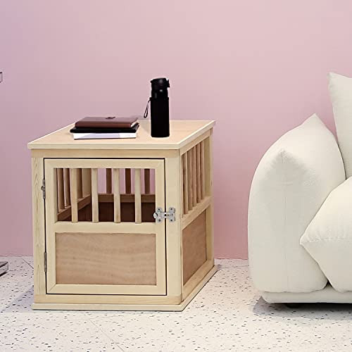 Solid Wood Dog Crate Kennel Furniture Style for Small Size