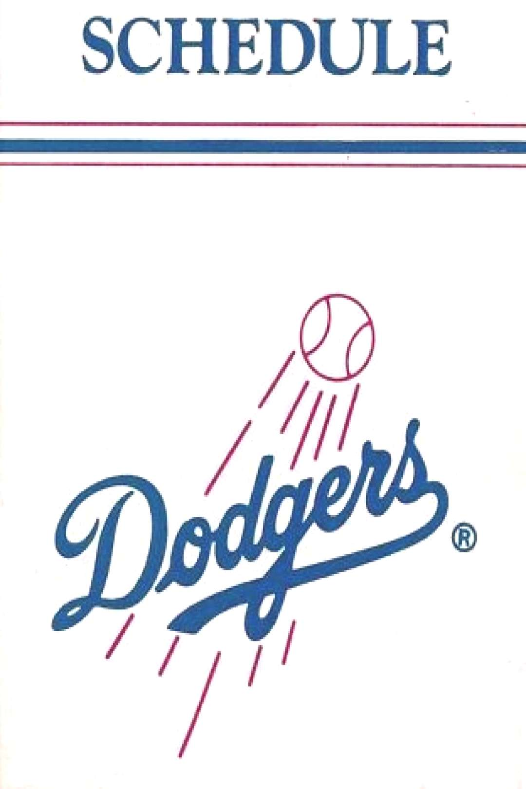 Sponsored - 1970's to 2000's MLB Los Angeles Dodgers Baseball Schedule - U-Pick From List