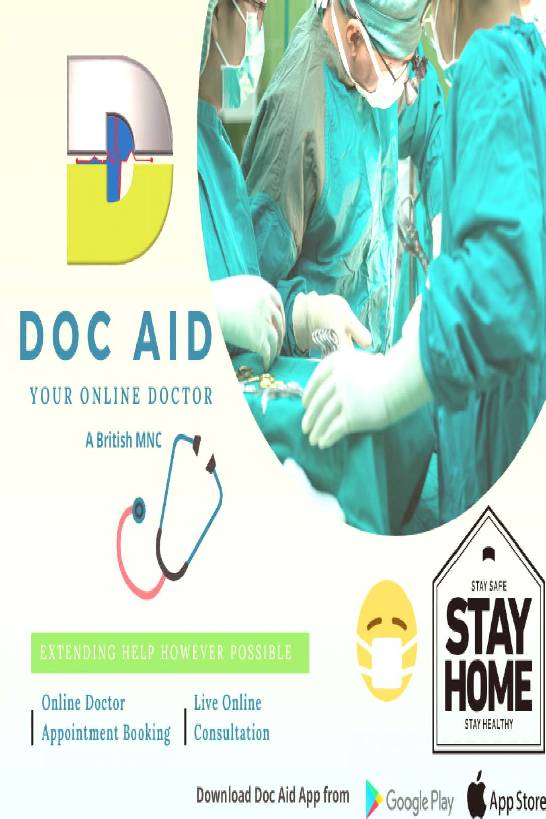 Stay safe, stay home and stay healthy! Book your appointment online with doctors... Stay safe, sta