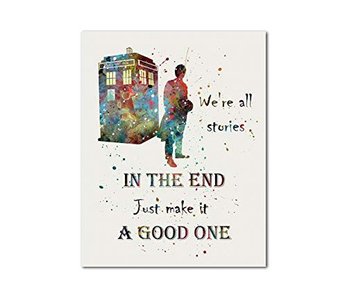 Tardis Doctor Who Quote Dr. Who time machine 11quot x 14quot Print