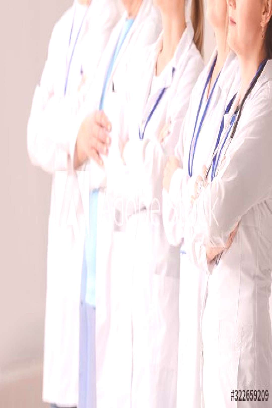 Team of professional doctors in clinic ,