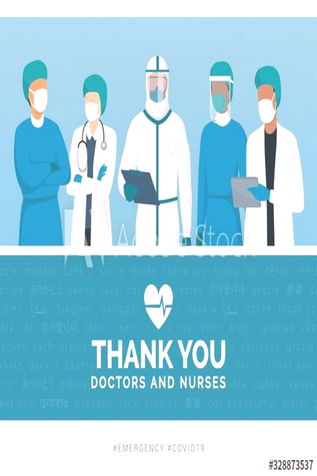 Thank you doctors and nurses ,