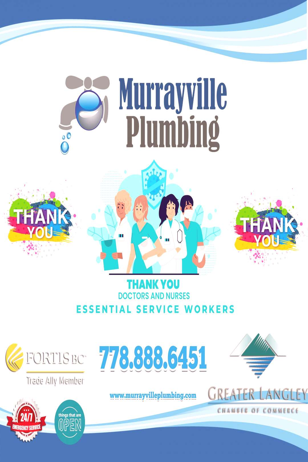 Thank you essential workers. We would like to say to all the out there helping to keep things movin