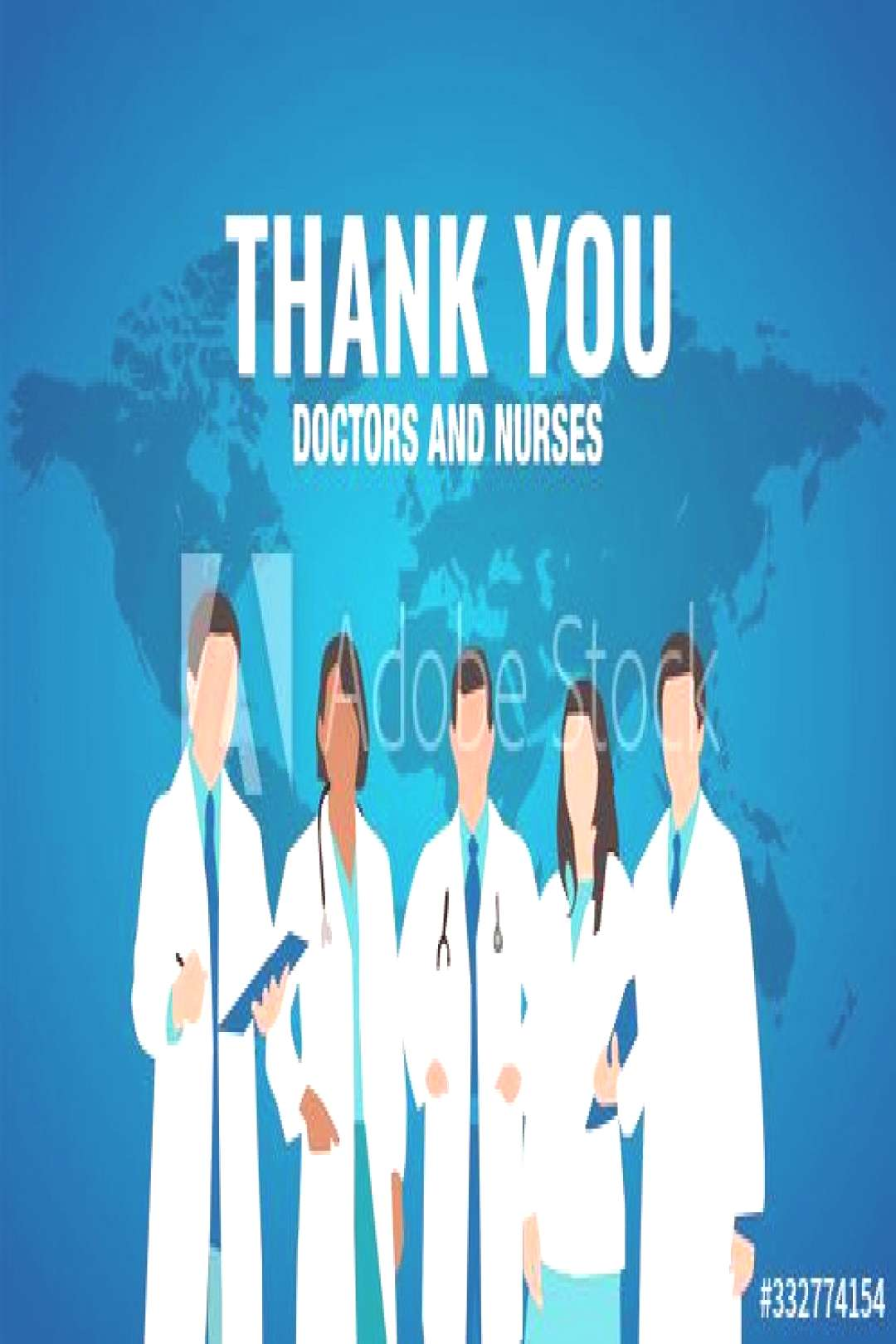 Thank you to all doctors and nurses in the world vector ,