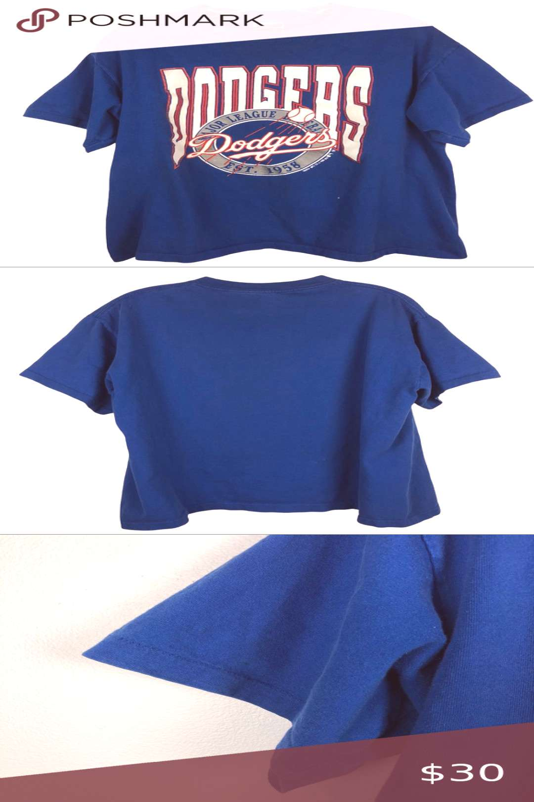 VTG LA Dodgers Graphic Tee XL Single Stitch Style: Blue LA Dodgers baseball graphic tee. Vintage 19