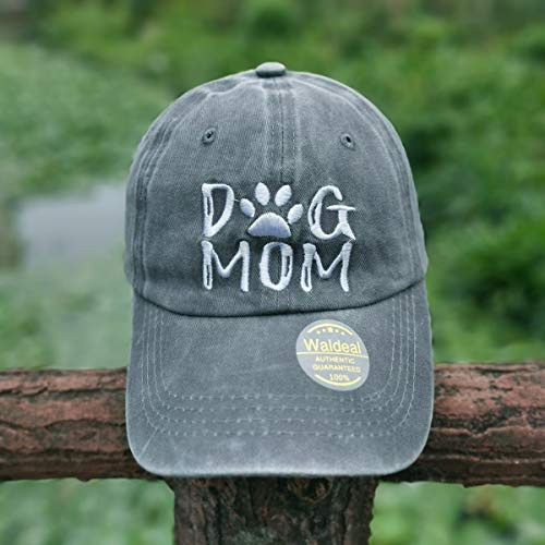 Waldeal Womens Adjustable Embroidered Dog Mom Hat